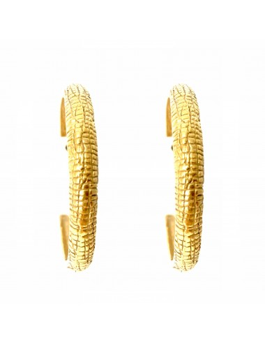 Nile Medium Hoop Earrings in Sterling Silver Vermeil