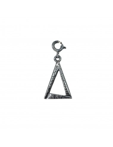 CHARM YOMIME EYE OF PROVIDENCE IN DARK STERLING SILVER