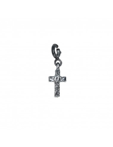 CHARM YOMIME CROSS IN DARK STERLING SILVER