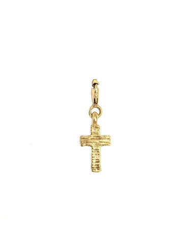 CHARM YOMIME CROSS IN STERLING SILVER VERMEIL