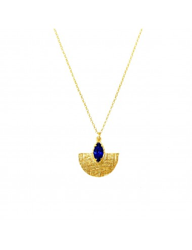 Colgante Oro Oval Con Espinela Marquise Azul Architecture
