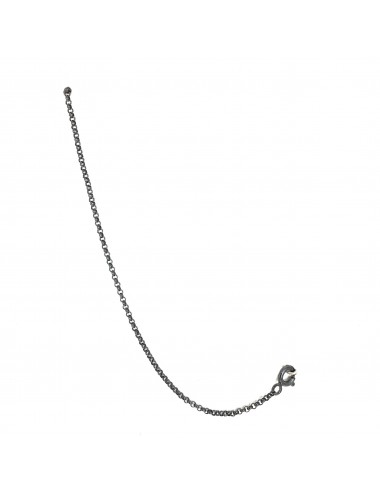 CHARM THIN CHAIN 11CM IN DARK STERLING SILVER