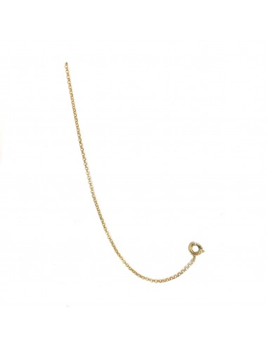 CHARM THIN CHAIN 11CM IN STERLING SILVER VERMEIL