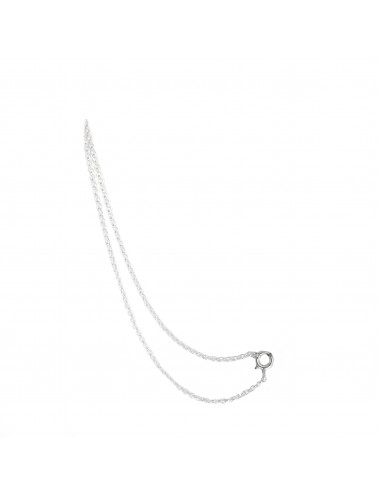CHARM DOUBLE THIN CHAIN 13CM IN STERLING SILVER