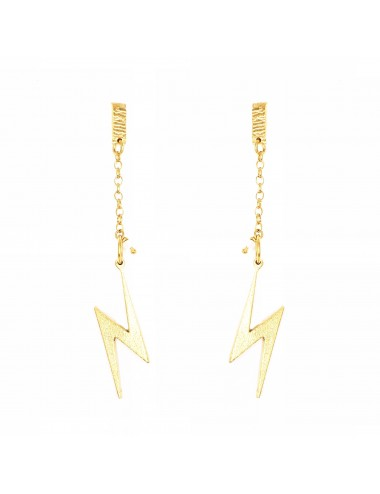 ICONS BY ALDO EARRINGS LIGHTNING IN STERLING SILVER VERMEIL
