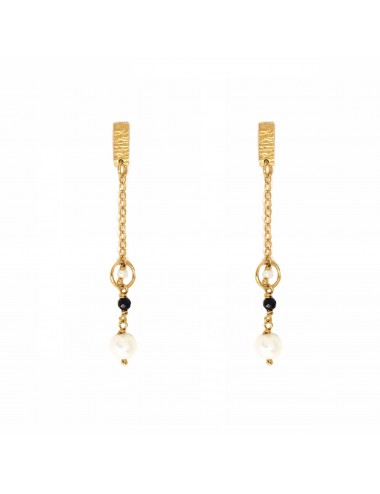 ICONS BY ALDO EARRINGS IN STERLING SILVER VERMEIL WITH NATURAL PEARL