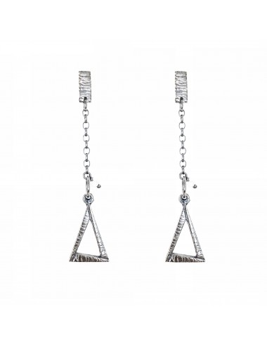 ICONS BY ALDO EARRINGS EYE OF PROVIDENCE IN DARK STERLING SILVER
