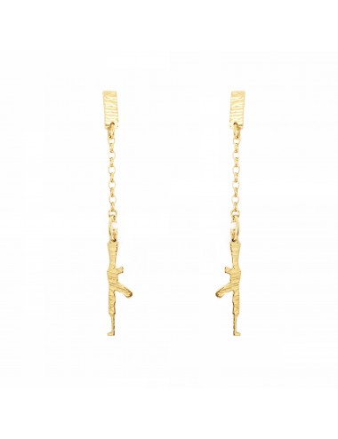 ICONS BY ALDO EARRINGS AK47 IN STERLING SILVER VERMEIL