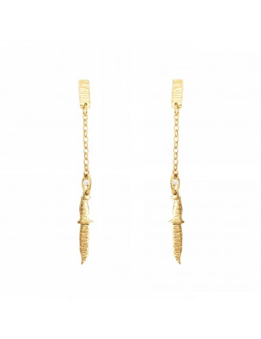 ICONS BY ALDO EARRINGS MACHETE IN STERLING SILVER VERMEIL