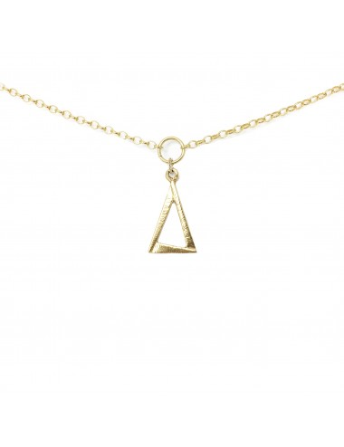 ICONS BY ALDO NECKLACE EYE OF PROVIDENCE IN STERLING SILVER VERMEIL
