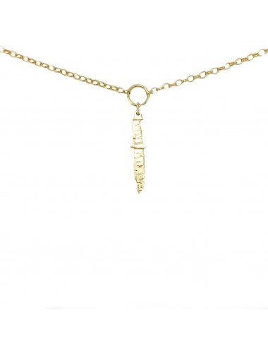 ICONS BY ALDO NECKLACE MACHETE IN STERLING SILVER VERMEIL