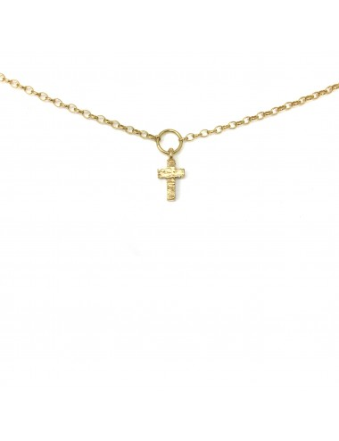 ICONS BY ALDO NECKLACE CROSS IN STERLING SILVER VERMEIL