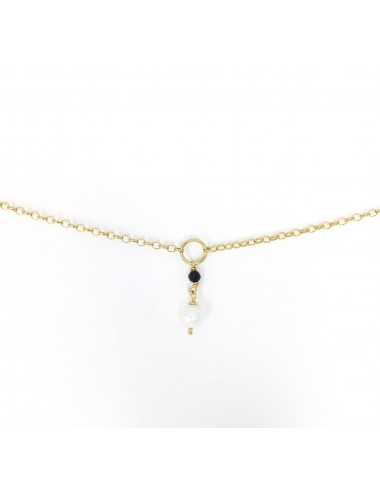 ICONS BY ALDO NECKLACE  IN STERLING SILVER VERMEIL WITH NATURAL PEARL