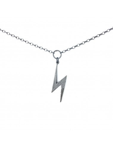 ICONS BY ALDO NECKLACE LIGHTNING IN DARK STERLING SILVER