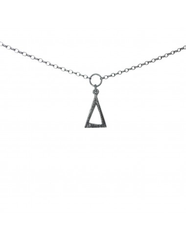 ICONS BY ALDO NECKLACE EYE OF PROVIDENCE IN DARK STERLING SILVER