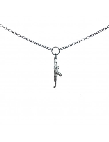 ICONS BY ALDO NECKLACE AK47 IN DARK STERLING SILVER