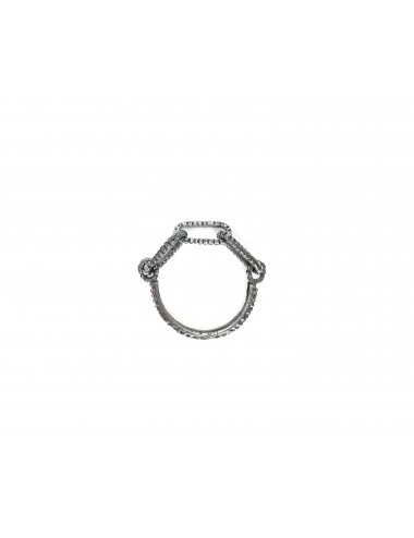 skyline chain ring in dark sterling silver