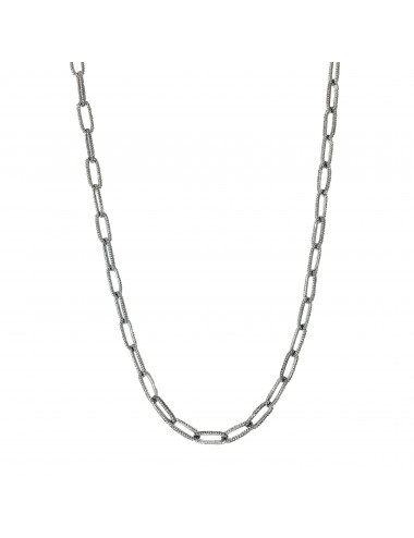 skyline chain necklace 50cm in dark sterling silver