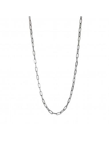 skyline chain necklace 60cm in dark sterling silver