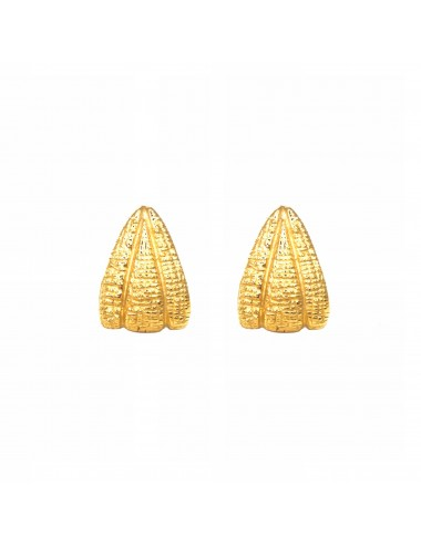 Nile Triangle Earrings in Sterling Silver Vermeil