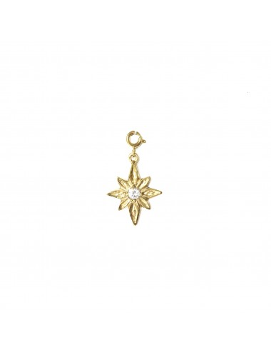 CHARM YOMIME CHRISTMAS STAR IN STERLING SILVER VERMEIL