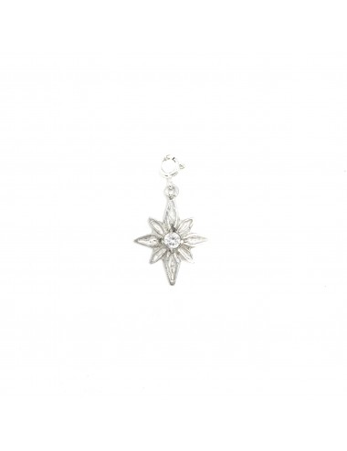 CHARM YOMIME CHRISTMAS STAR IN STERLING SILVER