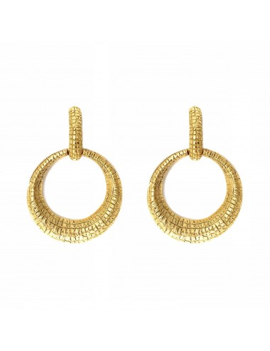 Nile Circle Earrings in Sterling Silver Vermeil