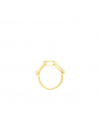 Skyline chain ring in sterling silver vermeil