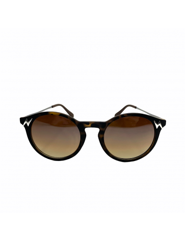 SPORT&CHIC YOMIME BROWN SUNGLASSES SILVER LIGHTNING