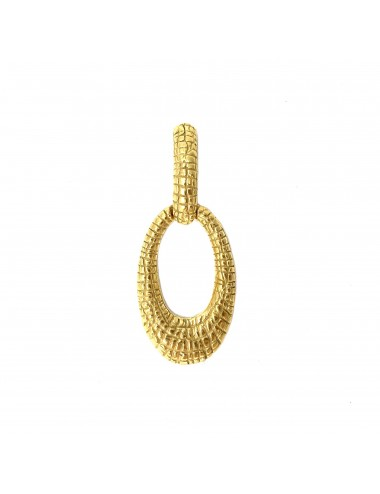 Nile Oval Pendant in Sterling Silver Vermeil