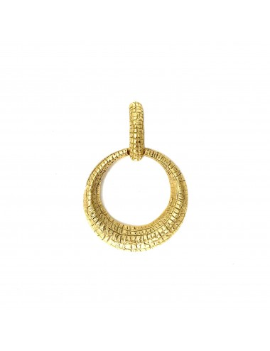 Nile Circle Pendant in Sterling Silver Vermeil