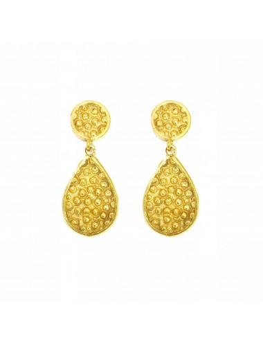Organic Drop Earrings in Sterling Silver Vermeil