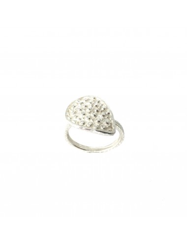 Organic Drop Ring in Sterling Silver