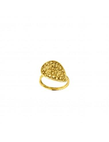 Organic Drop Ring in Sterling Silver Vermeil