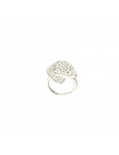 Organic double Drop Ring in Sterling Silver