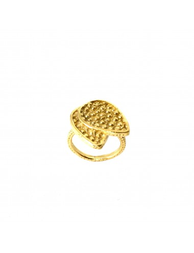 Organic double Drop Ring in Sterling Silver Vermeil