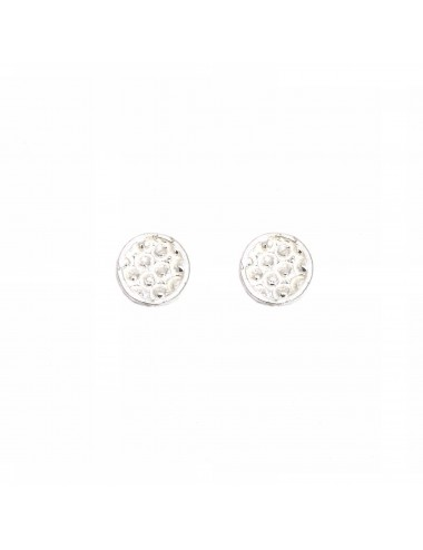 Organic Button Earrings in Sterling Silver