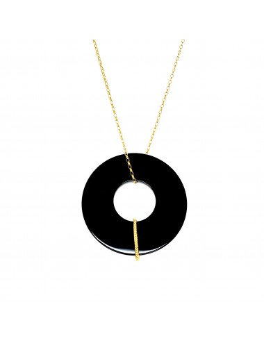 Disco Onix Pendant and Chain 80cm with Onix Disc