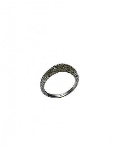 Dunes Ring in Dark Sterling Silver