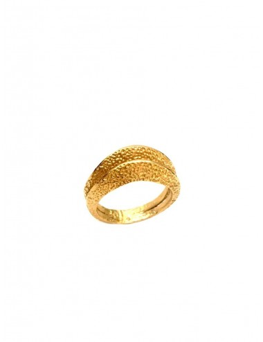 Dunes Double Ring in Sterling Silver Vermeil