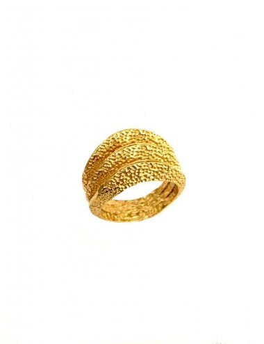 Dunes Triple Ring in Sterling Silver Vermeil