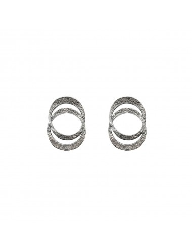 Dunes Double Earrings In Dark Sterling Silver