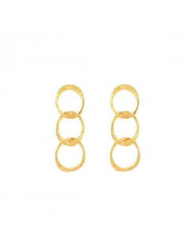 Dunes Triple Earrings In Sterling Silver Vermeil