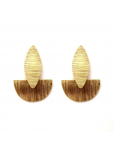 Architecture Semi Circle Earrings in Sterling Silver Vermeil
