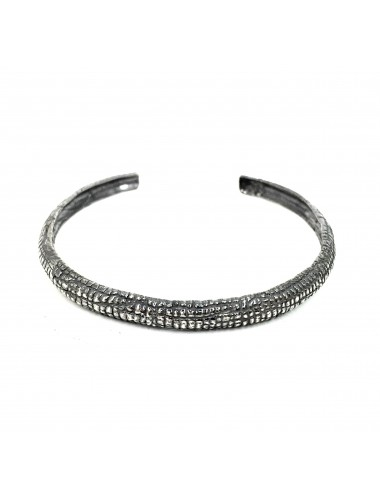 Nile Bangle Bracelet in Dark Sterling Silver