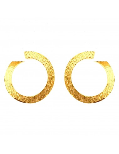 Architecture Hoop Earrings in Sterling Silver Vermeil