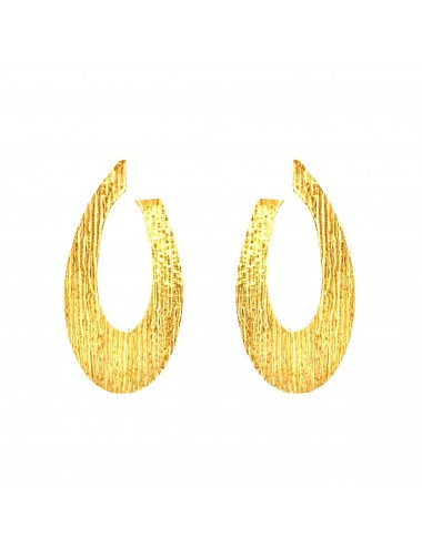 Architecture Oval Earrings in Sterling Silver Vermeil