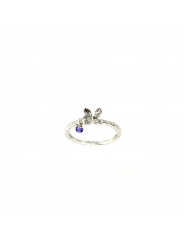 Petals Ring in Sterling Silver with Purple Circonita