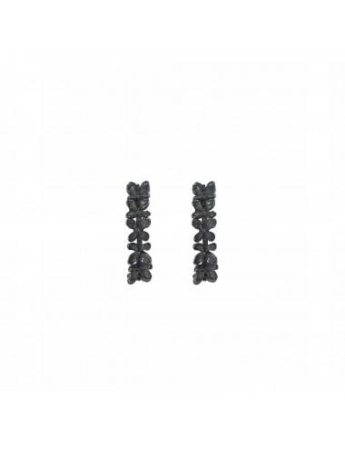 Petals Criollas Earrings in Dark Sterling Silver