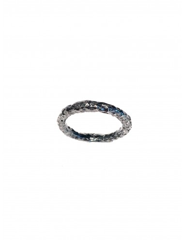Punki thin Ring in Dark Sterling Silver